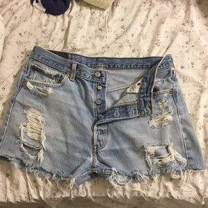Levi vintage jean shorts